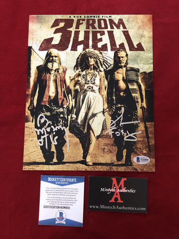 3FH_001 - 8x10 Photo Autographed By Bill Moseley & Richard Brake