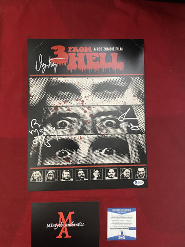 3FH_006 - 11x14 Photo Autographed By Bill Moseley & Richard Brake