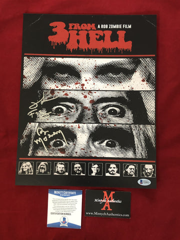 3FH_007 - 11x14 Photo Autographed By Bill Moseley & Richard Brake