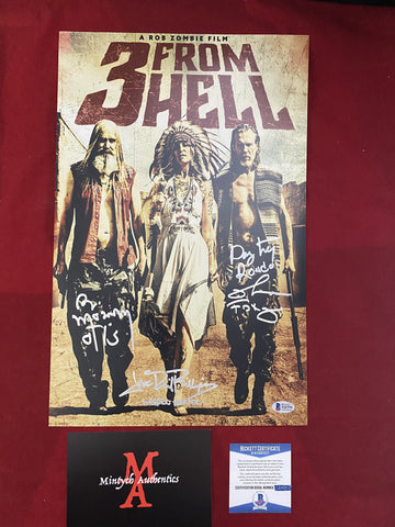 3FH_018 - 11x17 Photo Autographed By Richard Brake, Bill Moseley & Jeff Daniel Phillips