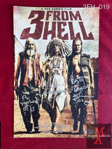 3FH_019 - 11x17 Photo Autographed By Richard Brake, Bill Moseley & Jeff Daniel Phillips