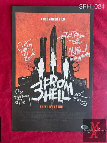 3FH_024 - 11x17 Limited Edition Poster Autographed By Richard Brake, Bill Moseley & Jeff Daniel Phillips