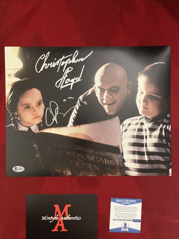 ADDAMS_001 - 11x14 Photo Autographed By Christopher Lloyd & Christina Ricci