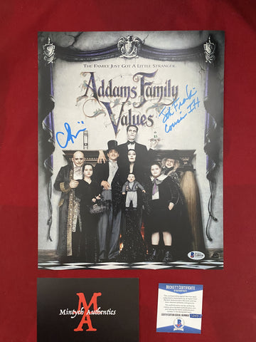 ADDAMS_002 - 11x14 Photo Autographed By Christina Ricci & Jonathan Franklin