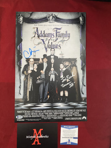 ADDAMS_005 - 11x17 Photo Autographed By Christina Ricci & Jonathan Franklin