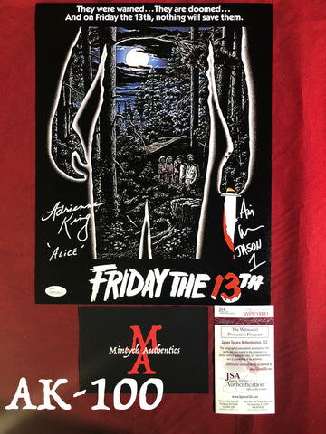 AK_100 - 11x14 Adrienne King & Ari Lehman Autographed Photo