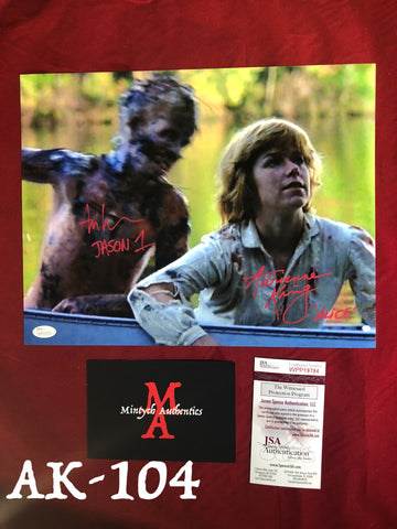 AK_104 - 11x14 Adrienne King & Ari Lehman Autographed Photo