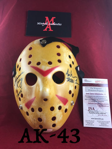 AK_43 - Jason Mask Autographed By Adrienne King & Ari Lehman