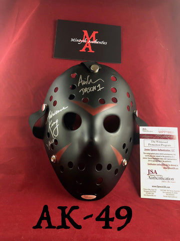 AK_49 - Jason Mask Autographed By Adrienne King & Ari Lehman