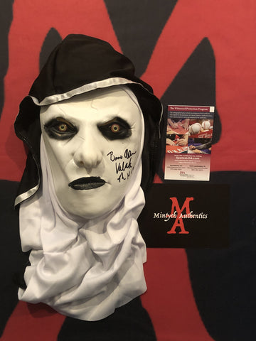 BA_186 - The Nun   Mask Autographed By Bonnie Aarons