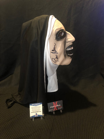 BA_34 - Valak The Nun Mask Autographed By Bonnie Aarons