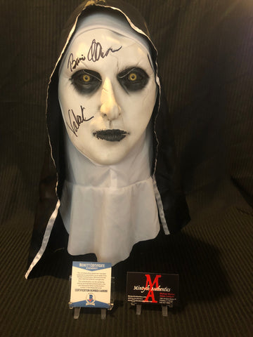 BA_37 - Valak The Nun Mask Autographed By Bonnie Aarons