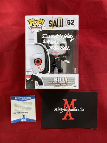 BELL_198 - Billy 52 (IMPERFECT) Funko Pop! Autographed By Tobin Bell
