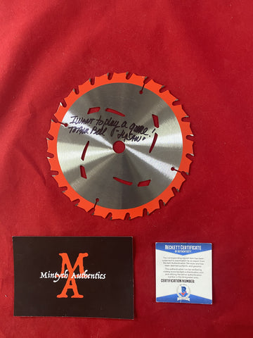 "BELL_228 - 7"" Real   Saw Blade Autographed By Tobin Bell"