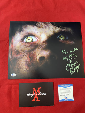 BLAIR_086 - 11x14 Photo Autographed By Linda Blair