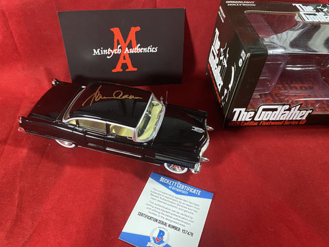 "CAAN_324 - 1:24 Scale Greenlight ""The Godfather 1955 Cadillac Fleetwood Series 60"" Limited Edition Diecast Car Autographed By James Caan"