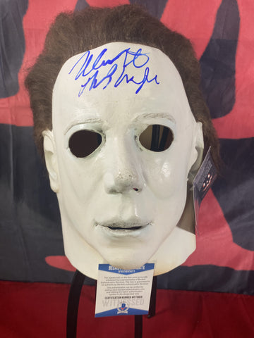 CASTLE_004 - Michael Myers Trick Or Treat Studios Mask Autographed By Nick Castle