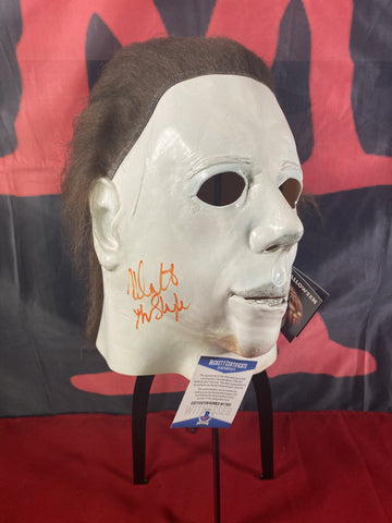 CASTLE_014 - Michael Myers Trick Or Treat Studios Mask Autographed By Nick Castle