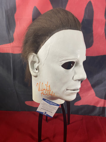 CASTLE_015 - Michael Myers Trick Or Treat Studios Mask Autographed By Nick Castle