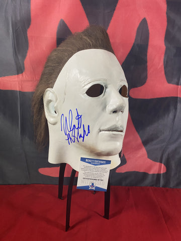 CASTLE_021 - Michael Myers Trick Or Treat Studios Mask Autographed By Nick Castle
