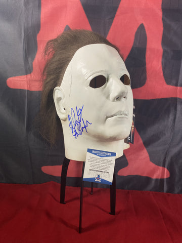 CASTLE_022 - Michael Myers Trick Or Treat Studios Mask Autographed By Nick Castle
