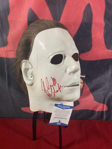 CASTLE_027 - Michael Myers Trick Or Treat Studios Mask Autographed By Nick Castle