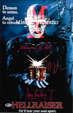 CB_204-11x17 Photo Autographed By Clive Barker & Doug Bradley