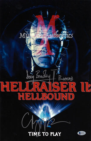 CB_206-11x17 Photo Autographed By Clive Barker & Doug Bradley