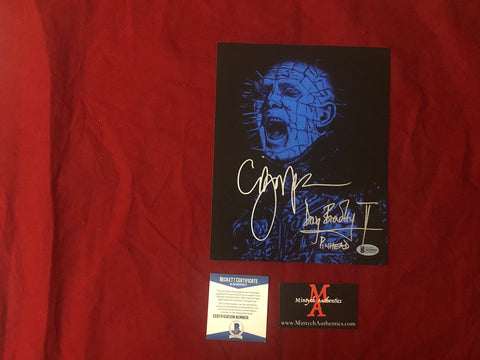 CBDB_33 - 8x10 Photo Autographed By Clive Barker & Doug Bradley
