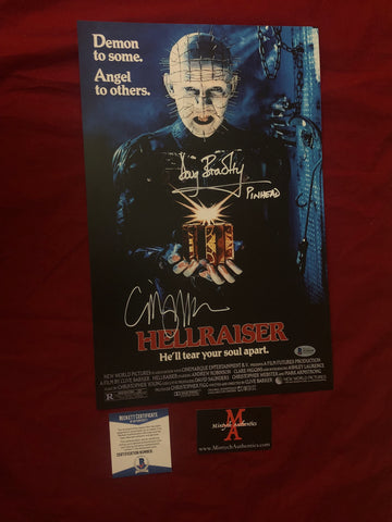 CBDB_41 - 11x17 Photo Autographed By Clive Barker & Doug Bradley