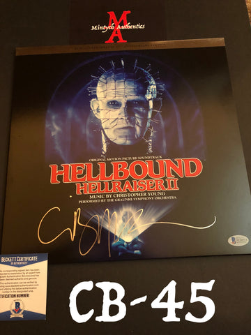 CB_45 - Hellraiser II Vinyl Record Autographed By Clive Barker