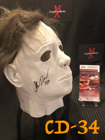 CD_34 - Michael Myers Mask  Autographed By Chris Durand