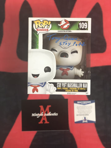"CECERE_040 - Stay Puft 109 10"" Vaulted Funko Pop! Autographed By Tony Cecere"