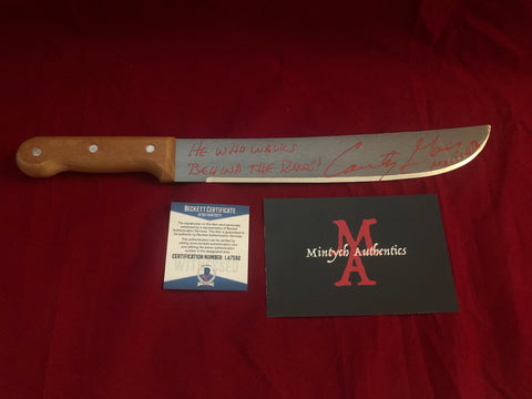 "CG_17 - 12"" Machete Autographed By Courtney Gains"