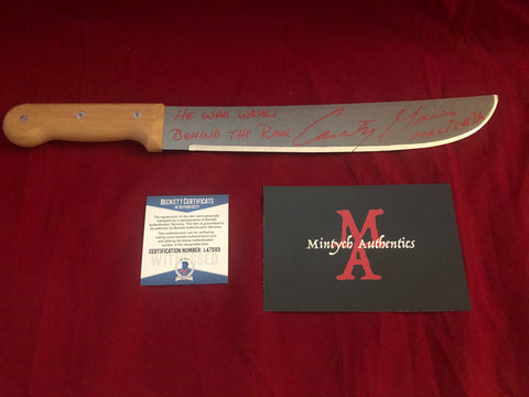 "CG_18 - 12"" Machete Autographed By Courtney Gains"