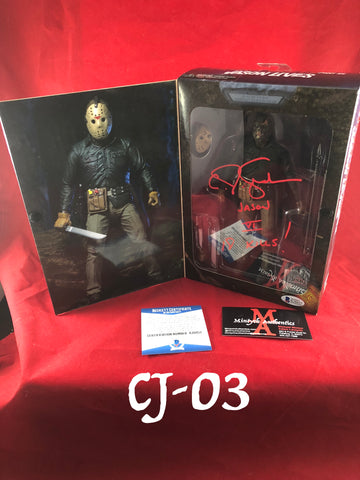 CJ_03 -Jason Voorhees Neca Figure Autographed by CJ Graham