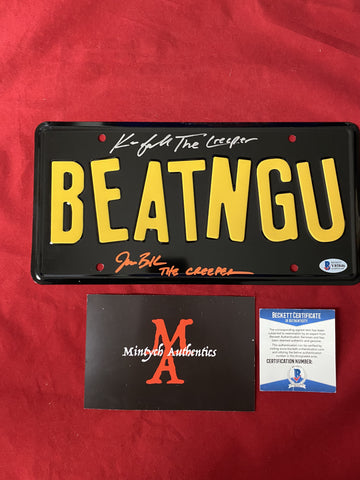 CREEPERS_007 - Prop License Plate Autographed By Jonathan Breck & Kevin Ball