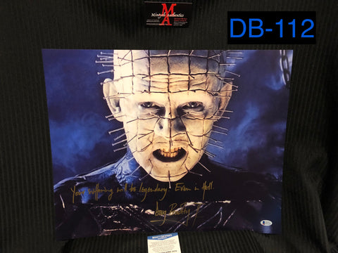 DB_112 - 16x20 Photo Autographed By Doug Bradley