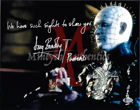 DB_215 - 11x14 Photo Autographed By Doug Bradley