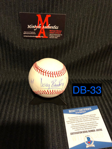 DB_33 - Baseball  Autographed By Doug Bradley