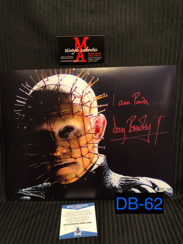 DB_62 - 11x14 Photo Autographed By Doug Bradley