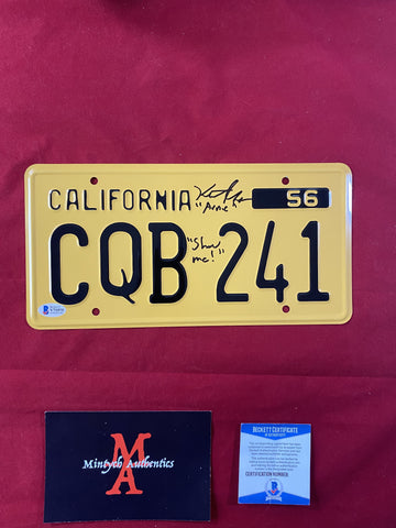 GORDON_003 - Christine  License Plate Autographed By Keith Gordon