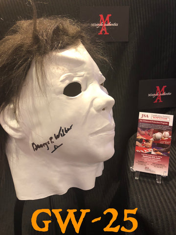 GW_25 - Michael Myers Mask Autographed By George Wilbur