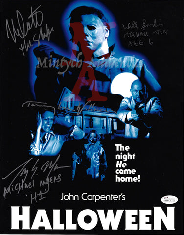 H1_04 - 11x14 Photo Autographed By 4 Michael Myers