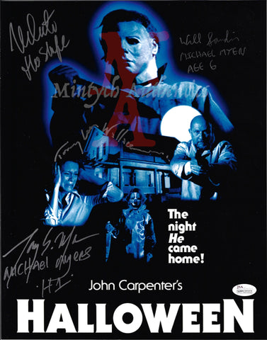 H1_05 - 11x14 Photo Autographed By 4 Michael Myers