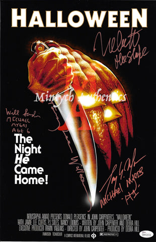 H1_06 - 11x17 Photo Autographed By 4 Michael Myers