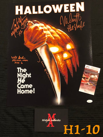 H1_10 - 16x20 Photo Autographed By 4 Michael Myers
