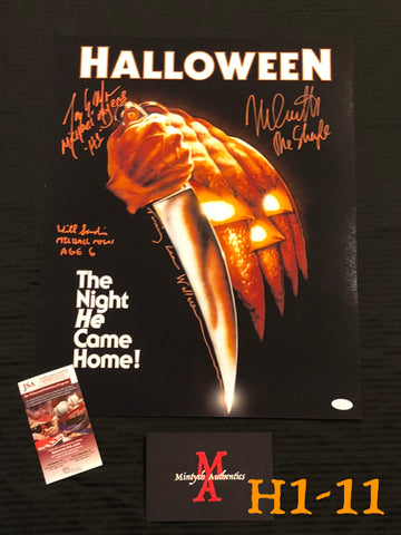 H1_11 - 16x20 Photo Autographed By 4 Michael Myers