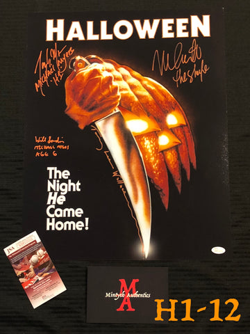H1_12 - 16x20 Photo Autographed By 4 Michael Myers