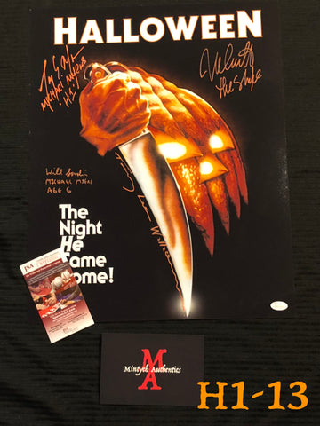 H1_13 - 16x20 Photo Autographed By 4 Michael Myers